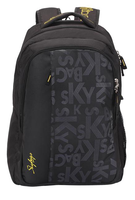 Skybags Footloose Router 1 Black Printed Laptop Backpack