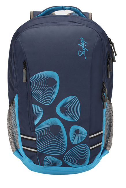 48a762529125 Buy Skybags Footloose Gizmo 1 Navy Printed Laptop Backpack Online At Best  Price   Tata CLiQ