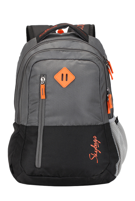 d9c7db431dcb Buy Skybags Footloose Leo 03 Grey   Black Color Block Backpack Online At  Best Price   Tata CLiQ