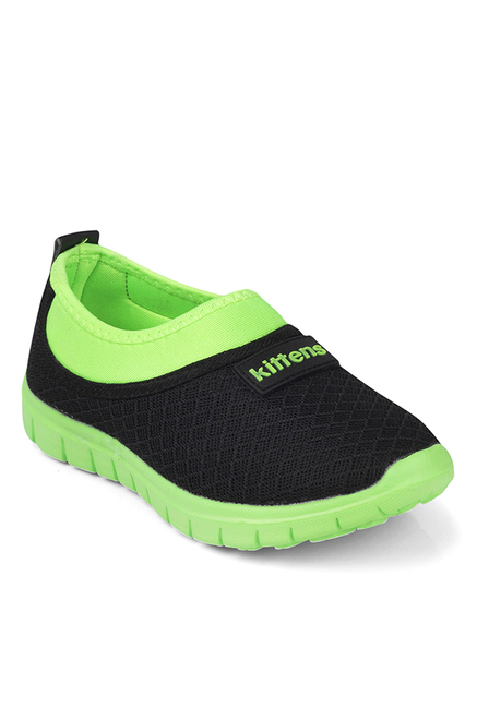 badd470c76 Buy Kittens Black & Green Running Shoes for Boys at Best Price ...