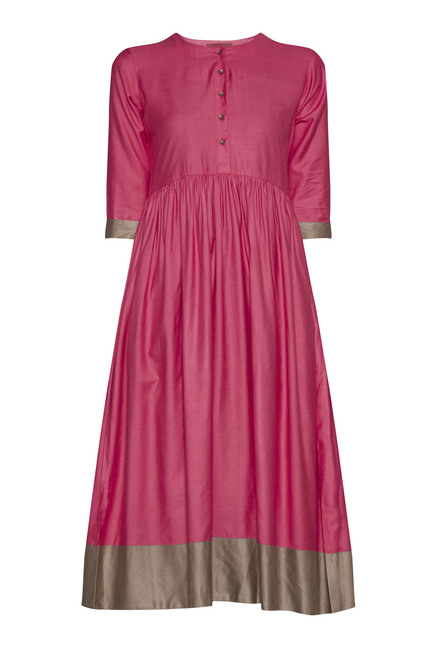 Zuba by Westside Pink Fit And Flare Kurta
