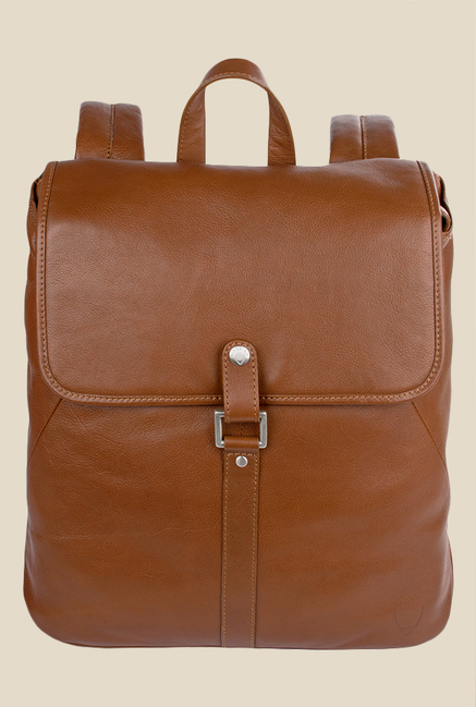 Hidesign Brosnon 01 Tan Leather Laptop Backpack
