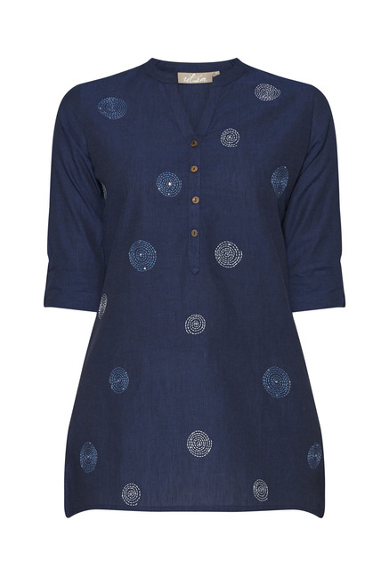Utsa by Westside Indigo Embroidered Kurti