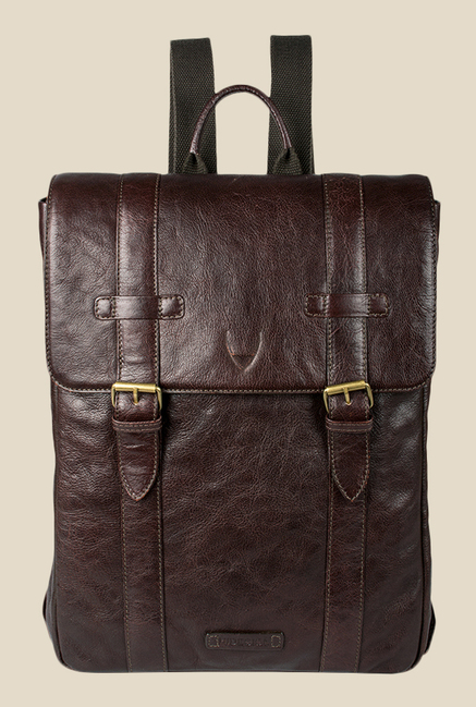 Hidesign Indigo 01 Brown Leather Laptop Backpack