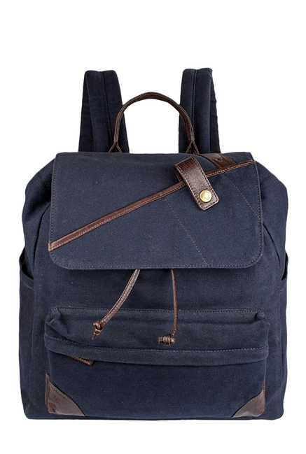 Hidesign Cherokee 02 Navy Leather Laptop Backpack