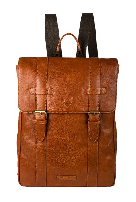 Hidesign Indigo 01 Tan Leather Laptop Backpack