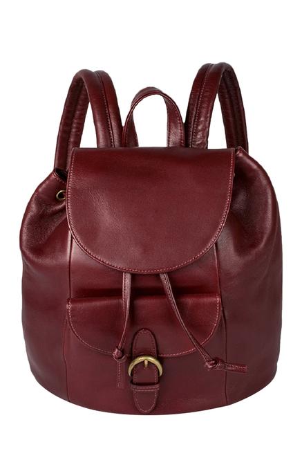 Hidesign Tamarind Maroon Leather Backpack