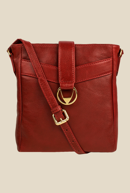 Hidesign Azha 03 Red Leather Sling Bag