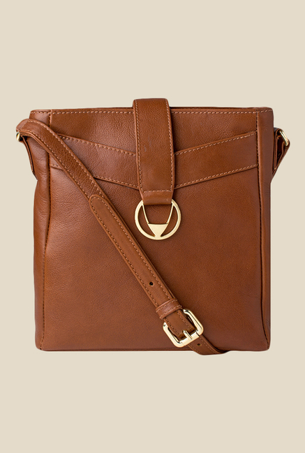 Hidesign Azha 03 Brown Leather Sling Bag