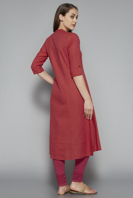 Utsa by Westside Rust Textured Kurta
