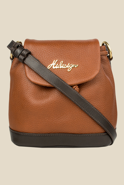 Hidesign Lucy 03 Tan Leather Sling Bag