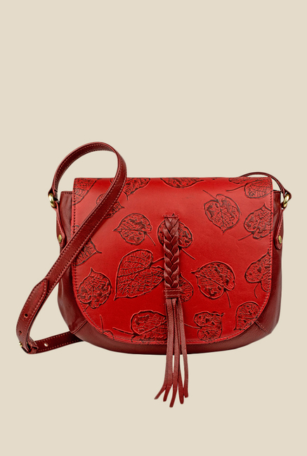 Hidesign Meryl 01 Red Leather Sling Bag