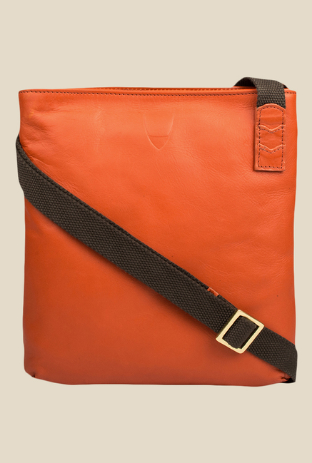 Hidesign Tatum 01 Orange Leather Sling Bag