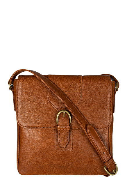 Hidesign Juniper 02 Tan Leather Crossbody Bag