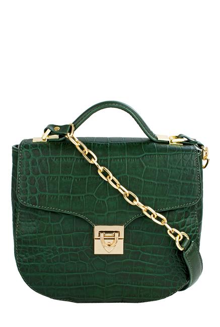 Hidesign SB Elsa Green Textured Leather Sling Bag