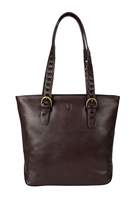Hidesign Myrtle 03 Dark Brown Solid Leather Tote