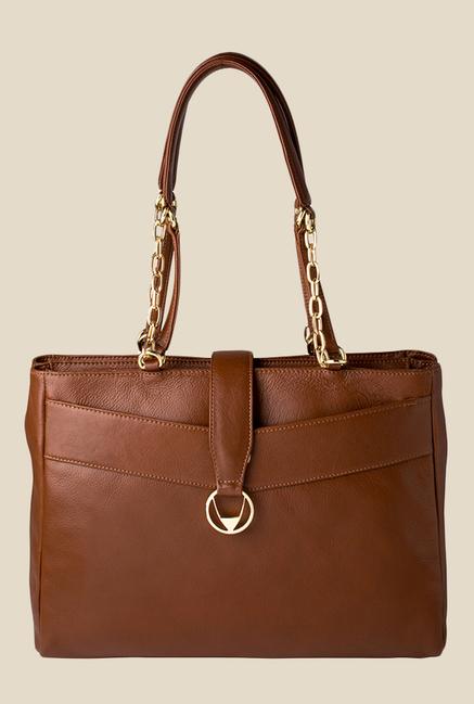 Hidesign Azha 01 Tan Leather Shoulder Bag
