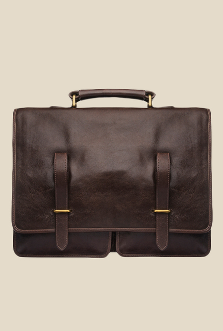Hidesign Parma Brown Leather Messenger Bag