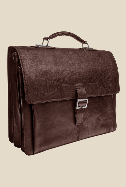 Hidesign Spector 1337 Dark Brown Leather Messenger Bag