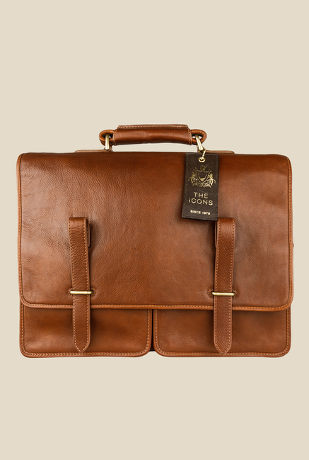 Hidesign Parma Tan Leather Messenger Bag