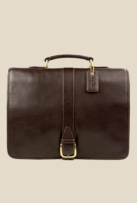 Hidesign Bolton Brown Leather Messenger Bag