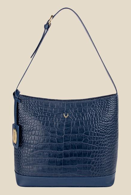 Hidesign Berlin 03 SB Blue Leather Shoulder Bag