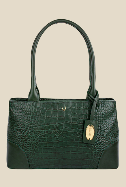 Hidesign Berlin 02 SB Green Leather Shoulder Bag
