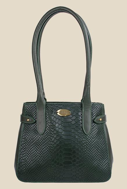 Hidesign Shanghai 03 SB Green Leather Shoulder Bag