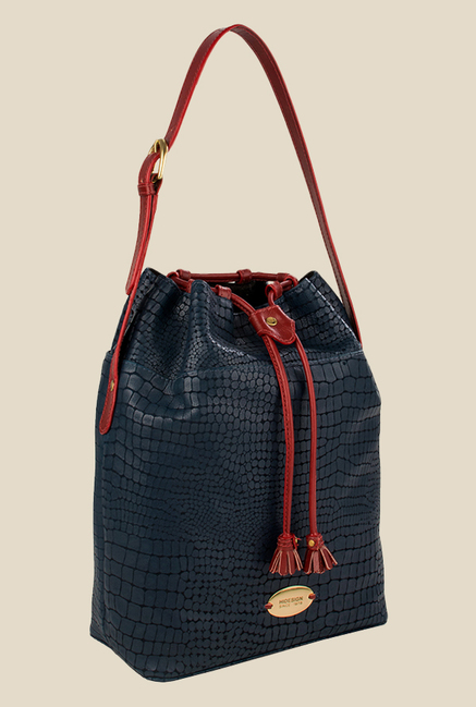 Hidesign Shea Blue Leather Shoulder Bag