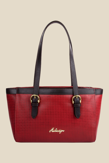 Hidesign Dubai 01 SB Red Leather Shoulder Bag