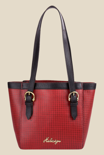 Hidesign Dubai 02 SB Red Leather Shoulder Bag