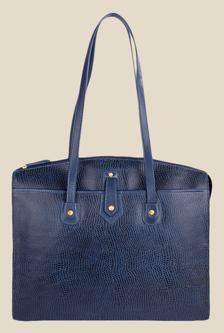 Hidesign Hong Kong 01 SB Blue Leather Shoulder Bag