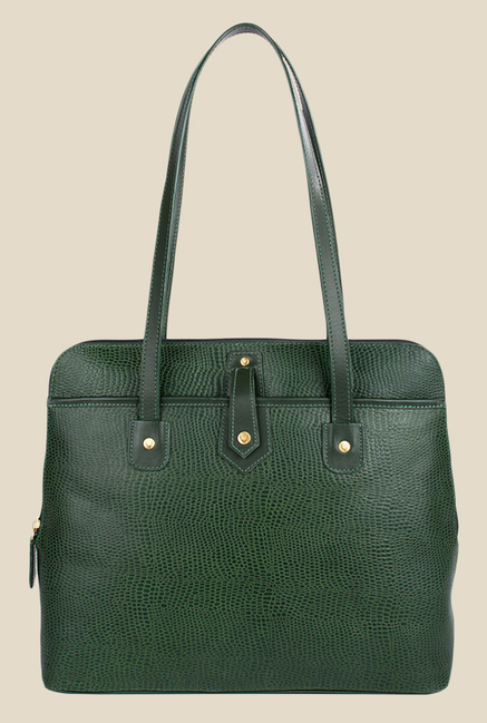 Hidesign Hong Kong 02 SB Green Leather Shoulder Bag