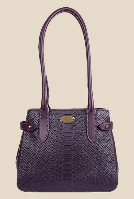 Hidesign Shanghai 03 SB Purple Leather Shoulder Bag