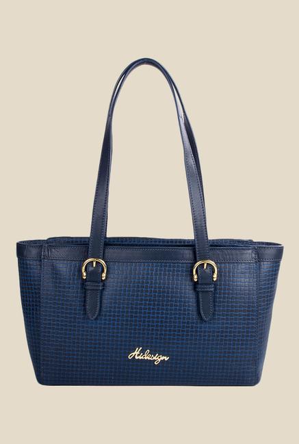 Hidesign Dubai 01 SB Blue Leather Shoulder Bag