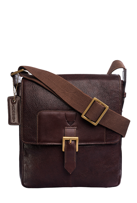Hidesign Bertoia 03 Dark Brown Leather Sling Bag