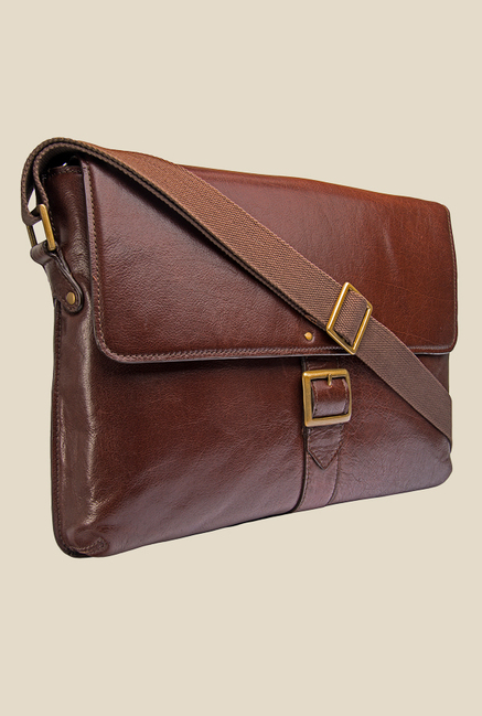 Hidesign Vespucci 03 Brown Solid Leather Sling Bag