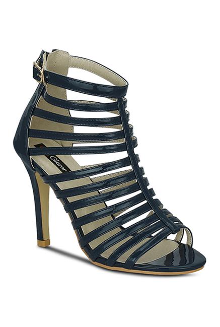 106da9d5992b Buy Get Glamr Sativa Navy Stiletto Heeled Gladiator Sandals for ...