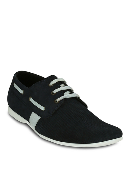 Get Glamr Oman Navy & White Boat Shoes