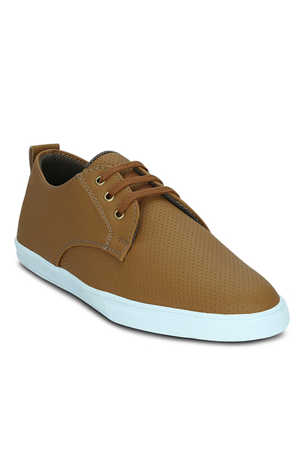 Get Glamr Ariclya Tan Derby Shoes