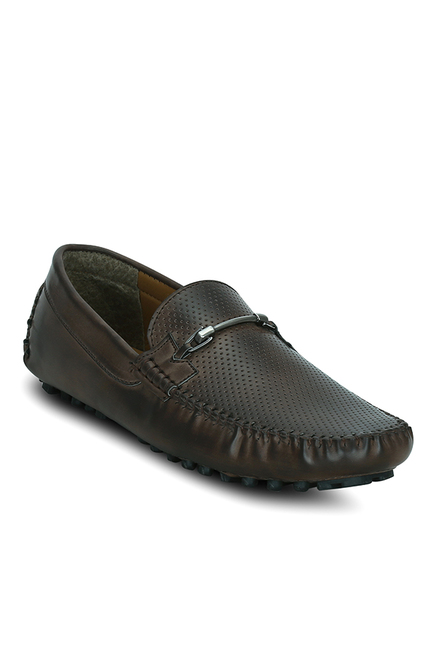 Get Glamr Kelson Horsebit Dark Brown Loafers