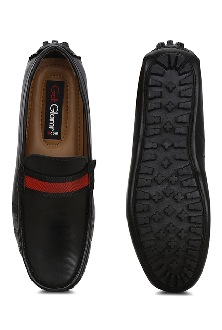 Get Glamr Mike Konos Black Loafers