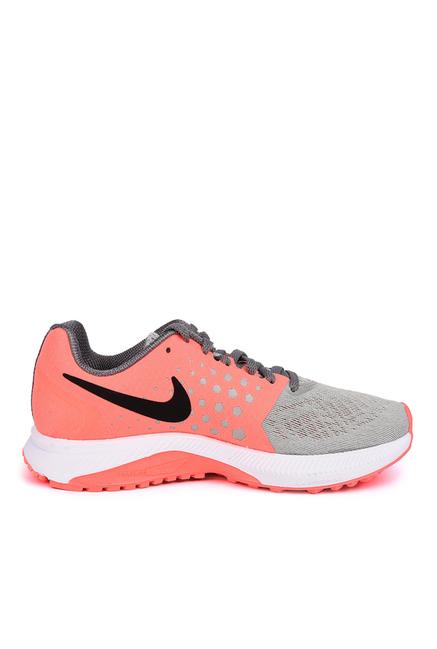 Nike Zoom Grey & Pink Running Shoes