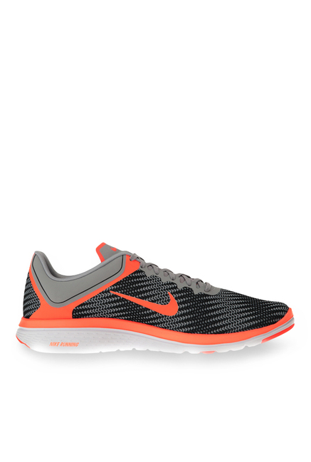 new product cda8c b1fb4 Buy Nike FS Lite Run 4 Wolf Grey & Hyper Orange Running ...