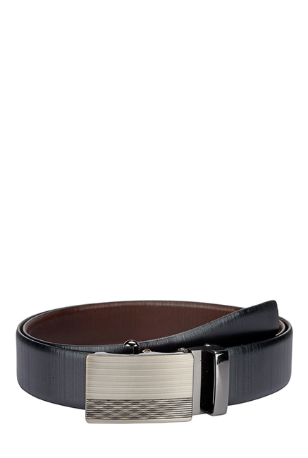 Teakwood Leathers Black & Dark Brown Reversible Belt