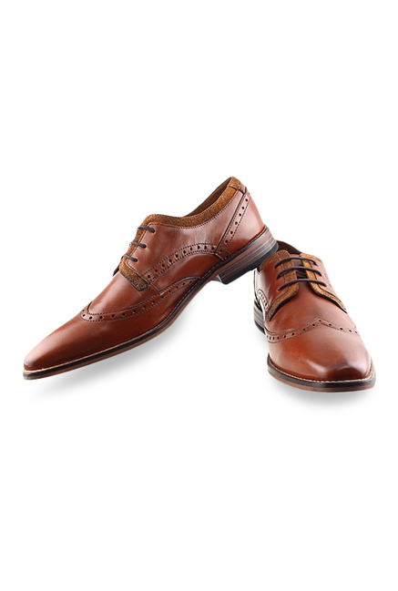 Ruosh Tan Derby Shoes