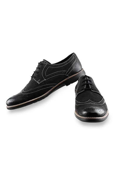 Ruosh Black Brogue Shoes