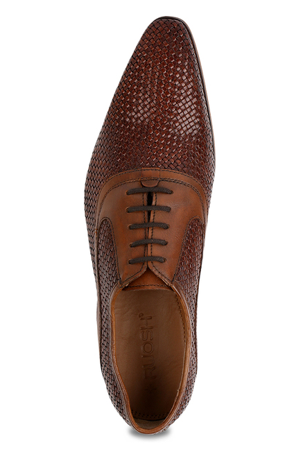 Ruosh Brown Oxford Shoes
