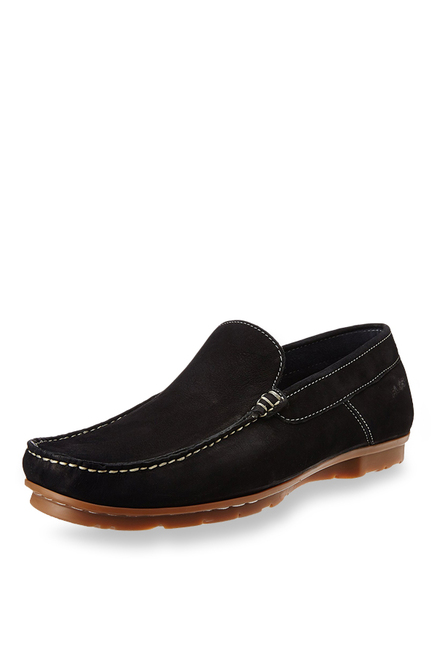Ruosh Black Casual Loafers