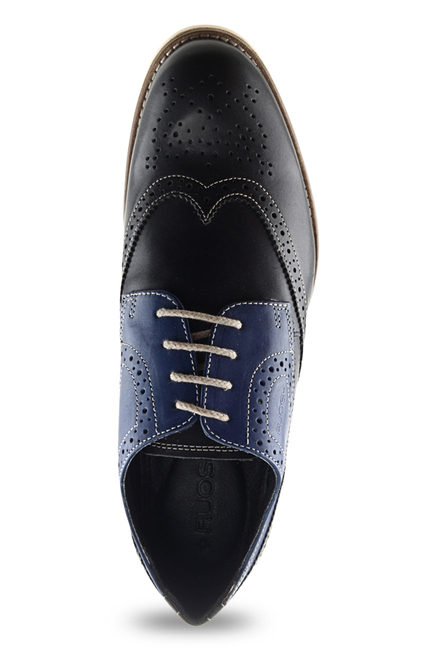 Ruosh Black & Blue Brogue Shoes